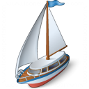 Sailboat Icon 128x128
