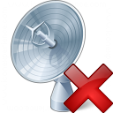 Satellite Dish Delete Icon 128x128