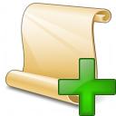 Scroll 2 Add Icon 128x128