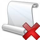 Scroll Delete Icon 128x128
