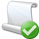 Scroll Ok Icon 128x128
