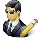 Security Agent Edit Icon 128x128