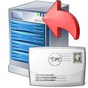 Server Mail Upload Icon 128x128