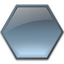 Shape Hexagon Icon 128x128