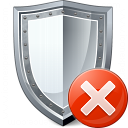 Shield Error Icon 128x128