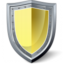Shield Yellow Icon 128x128
