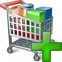 Shopping Cart Add Icon 128x128
