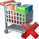 Shopping Cart Delete Icon 128x128