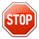Sign Stop Icon 128x128