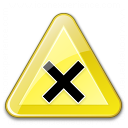 Sign Warning Harmful Icon 128x128