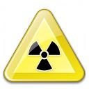 Sign Warning Radiation Icon 128x128