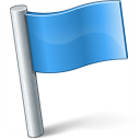 Signal Flag Blue Icon 128x128