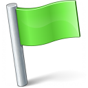 Signal Flag Green Icon 128x128