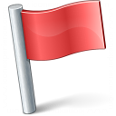 Signal Flag Red Icon 128x128