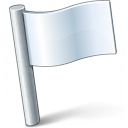 Signal Flag White Icon 128x128
