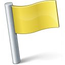 Signal Flag Yellow Icon 128x128