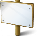 Signboard Empty Icon 128x128