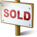 Signboard Sold Icon 128x128