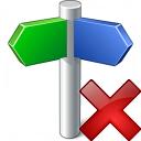Signpost Delete Icon 128x128