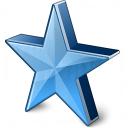 Star 2 Blue Icon 128x128