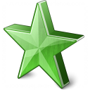 Star 2 Green Icon 128x128