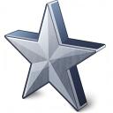 Star 2 Grey Icon 128x128