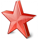 Star 2 Red Icon 128x128