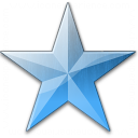 Star Blue Icon 128x128