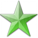Star Green Icon 128x128
