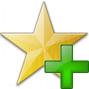 Star Yellow Add Icon 128x128