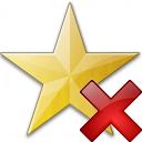 Star Yellow Delete Icon 128x128