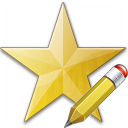 Star Yellow Edit Icon 128x128