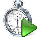 Stopwatch Run Icon 128x128