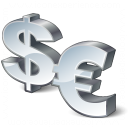 Symbol Dollar Euro Icon 128x128