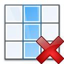 Table Column Delete Icon 128x128