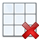 Table Delete Icon 128x128