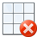 Table Error Icon 128x128