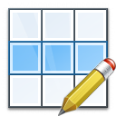 Table Row Edit Icon 128x128