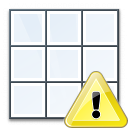 Table Warning Icon 128x128