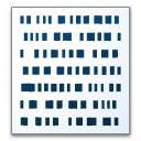 Text Binary Icon 128x128
