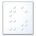 Text Braille Icon 128x128