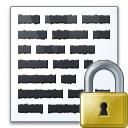 Text Lock Icon 128x128