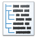 Text Tree Icon 128x128