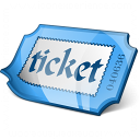 Ticket Blue Icon 128x128