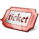 Ticket Red Icon 128x128