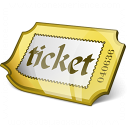 Ticket Yellow Icon 128x128