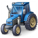 Tractor Blue Icon 128x128