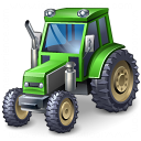 Tractor Green Icon 128x128