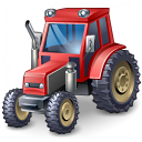 Tractor Red Icon 128x128