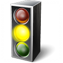 Trafficlight Yellow Icon 128x128